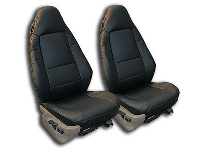 Bmw Z3 1996-2002 Black Iggee S.leather Custom Fit Front Seat Cover
