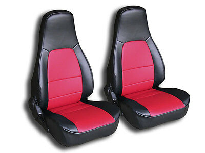 Mazda Miata 1990-2000 Black/red Iggee S.leather Custom Fit Front Seat Cover