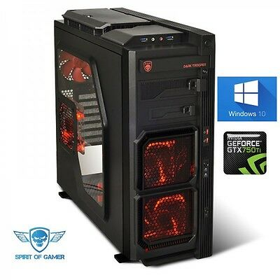 Pc Gamer Trooper AMD FX 4300 GeForce GTX750 Ti en 2Go Windows 10