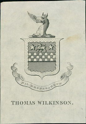 'Thomas Wilkinson' Bookplate (JC.176)