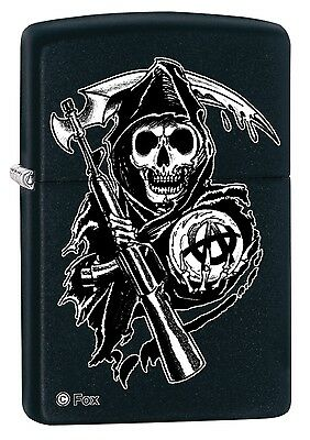 Zippo Sons of Anarchy Black Windproof Cigarette Lighter Genuine Smoker Accessory