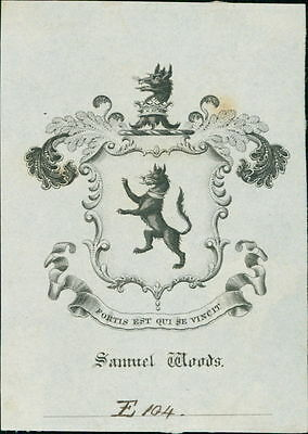 'Samuel Woods' Bookplate (JC.183)