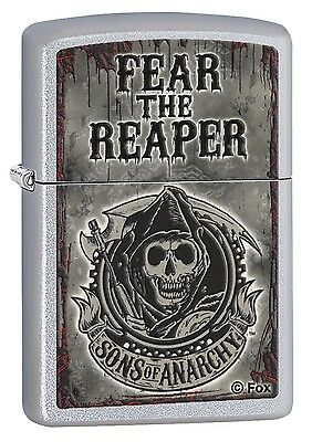 Zippo Sons of Anarchy Chrome Windproof Cigar Lighter Genuine Smokers Accessory