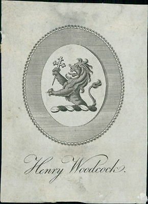 'Henry Woodcock'  Bookplate (JC.187)