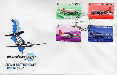 MALAWI 1972 AIRCRAFT Aviation Stamps first day cover REF:A196