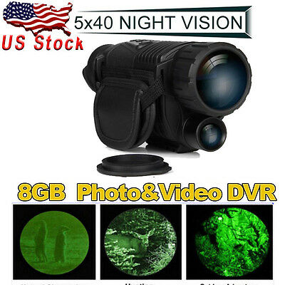 5x40 Infrared Night Vision Monocular Observation Telescope Waterproof 200m Range