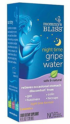 Mommys Bliss Gripe Water Night Time, 4 Fluid Ounce