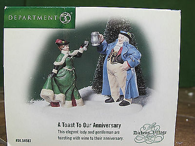 Dept 56 Dickens Village Accessory A Toast To Our Anniversary 58587 NIB Rare