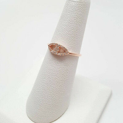 Evil Eye Rose Gold Plated .925 Sterling Silver Ring Size 3-9 NEW