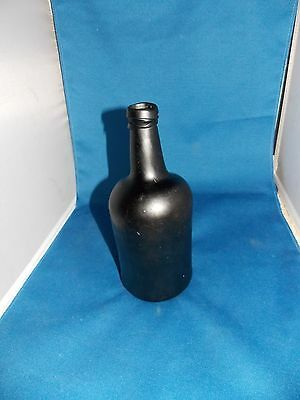 Black Glass Botle Open Pontil - Liquor Bottle