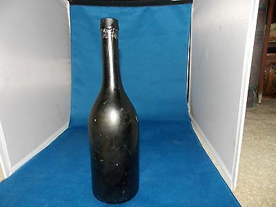 Black Glass Botle Just The Right Imprefections - Wine Bottle?