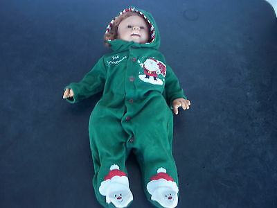 Lee Middleton Baby's First Christmas Doll - Red Hair