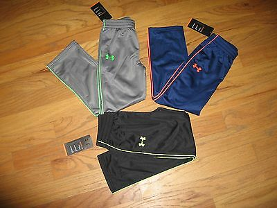 Under Armour Boys Athletic Pants Black Size 4 /5/6/7 Nwt