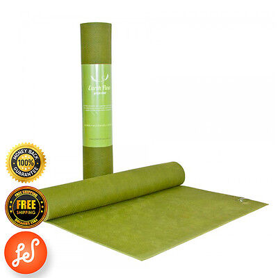 Yoga Gym Mat NonSlip 4MM Earth Flow NBR SuperThick Pilate Stretch Now Green