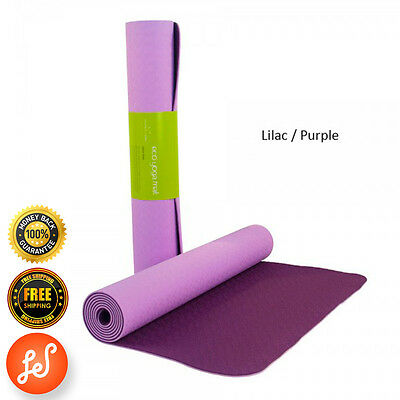 Yoga Gym Mat NonSlip 4MM NBR SuperThick Pilate Stretch Now Purple