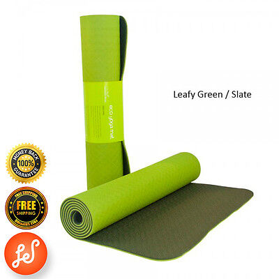 Yoga Gym Mat NonSlip 4MM NBR SuperThick Pilate Stretch Now Leafy Green