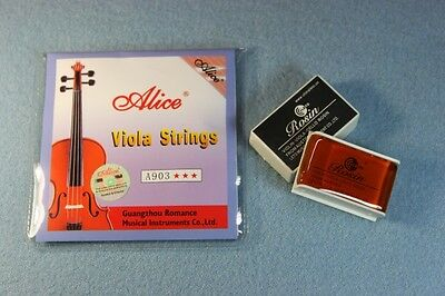 Rosin+HIGH QUALITY ALICE Viola strings Set  NEW