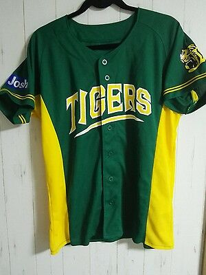 Rare Hanshin Tigers Summer Green Jersey Japan Baseball NPB Japanese