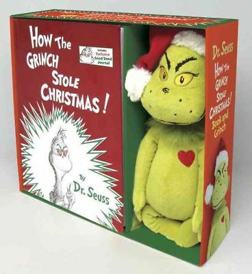 How the Grinch Stole Christmas! [With Plush Grinch] by Dr Seuss Hardcover Book (