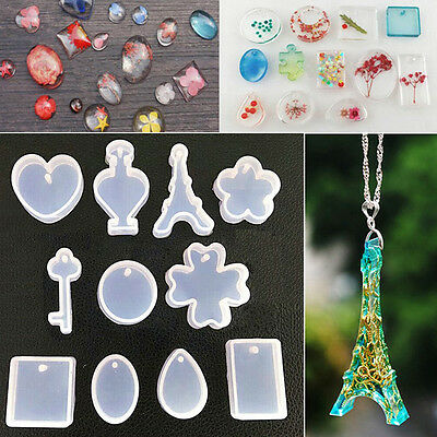 NEW 11Pcs/set DIY Pendant Silicone Mold Mould Resin Craft Making Tools Jewelry