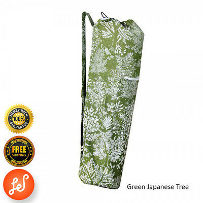 Printed 100% Organic Cotton Yoga Mat Bag Stretch Now Green Japanese Tree