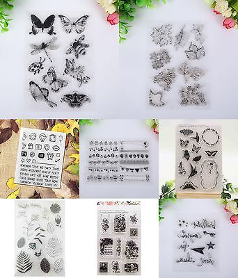 Angel Transparent Silicone Rubber Clear Stamp Sheet Cling Seal Scrapbooking DIY