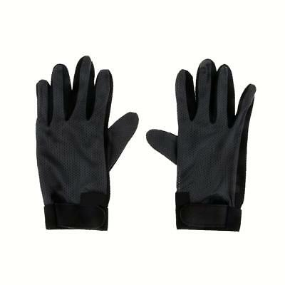Black Stretchable Antiskid Pimple Palm Horse Riding Equestrian Gloves S/M/L/XL