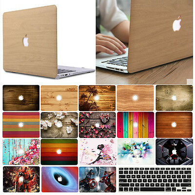 "Rubberized Hard Case Shell +Keyboard Cover for Macbook Pro 13/15""/13""inch Air 11"