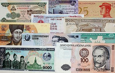 Worldwide LOT diff.Banknotes ALL UNC x 10 PCS (I)