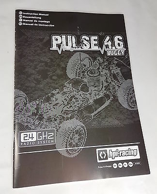 HPI RACING PULSE 4.6 Nitro Instruction/Owners Manual - Exploded Diagrams/Repair
