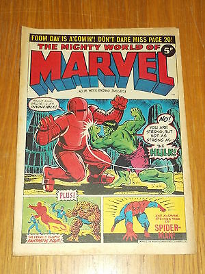 Mighty World Of Marvel #14 6Th January 1973 British Weekly Comic