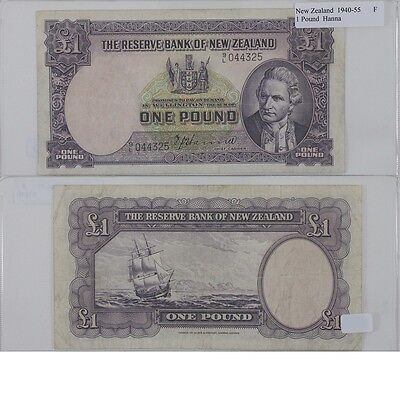 1940-45 1 Pound Banknote from New Zealand in Fine Condition.