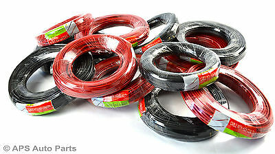 Single Core Cable Car Wire Red Black 0.5mm to 5.0mm Conduit Electrical Wiring