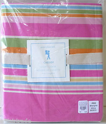 POTTERY BARN KIDS Cassidy TWIN Duvet Cover, NEW