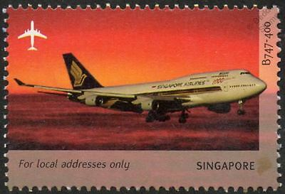 Singapore Airlines BOEING 747-400 Jumbo Aircraft Stamp (2003 Singapore)