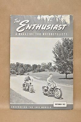 Vtg Harley Davidson Enthusiast Magazine September 1952 1953 Model Preview