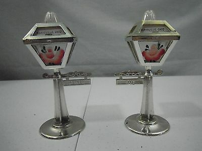 Vintage Souvenir STREET LAMP Salt and Pepper Shakers Marysville, Ohio