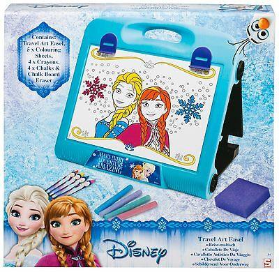 Disney Frzoen Travel Art Easel Chalk Board Girls Colouring Drawing Gift Set