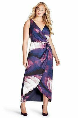 0107a5c7d5e69 Nwt  268 Nordstrom MYNT 1792 Women s Plus Size Lane Bryant Ombre Wrap Dress  16