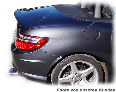 MERCEDES SLK R172 Roadster Obsidian Black 197 spoiler trunk lip lid rear wing