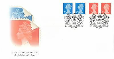 (89121) CLEARANCE GB FDC 1st 2nd Enschede Adhesive Definitives Windsor Apr 1998