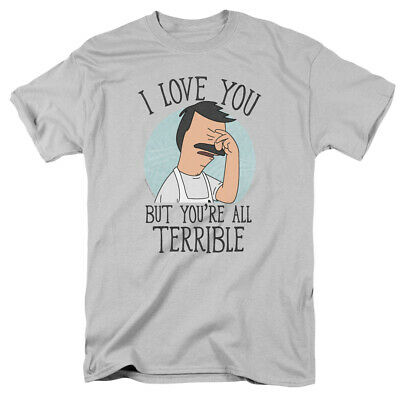 Bob's Burger Love You Terribly Officially Licensed Adult T Shirt