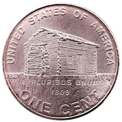 2009 Lincoln Log Cabin Cent #1 Early Childhood Penny Satin Finish Copper Penny