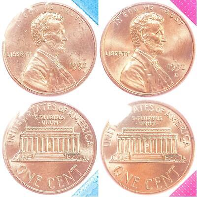 1994 P and D Lincoln Cent 2-Coin from US Mint Set UNC Cello One Cent Penny Set