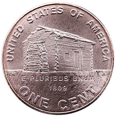 2009 D Lincoln Log Cabin Early Childhood Cent #1 Satin Finish Copper Penny