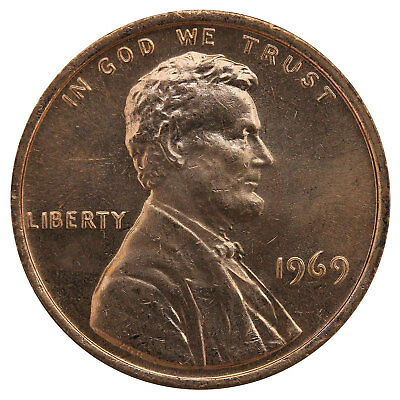 1969 Lincoln Memorial Cent BU Penny US Coin