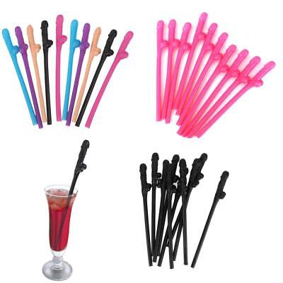 10pcs Hen Night Party Accessories Novelty Willy Penis Drinking Straws