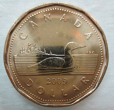 Canada 2009 Loonie Brilliant Uncirculated Dollar