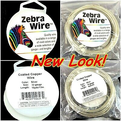 Zebra Wire Silver Round 12,14,16,18,20,22,24,26,28 gauge Free Shipping Beading