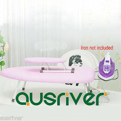 Mini Table Top Foldable Home Family Ironing Board With Iron Stand Cotton Cover